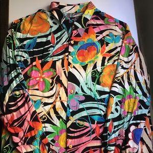 "Jams World XXL ""Safari Blossoms"" Men's Rayon Shirt"